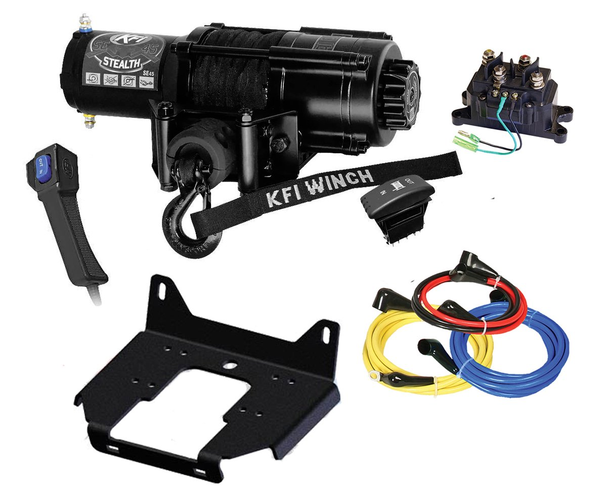 KFI SE45-R2 4500lbs Winch Combo Kit - Winch, Mount Bracket, Wiring, Switches, Remote - 2014-2018 Polaris 1000 RZR