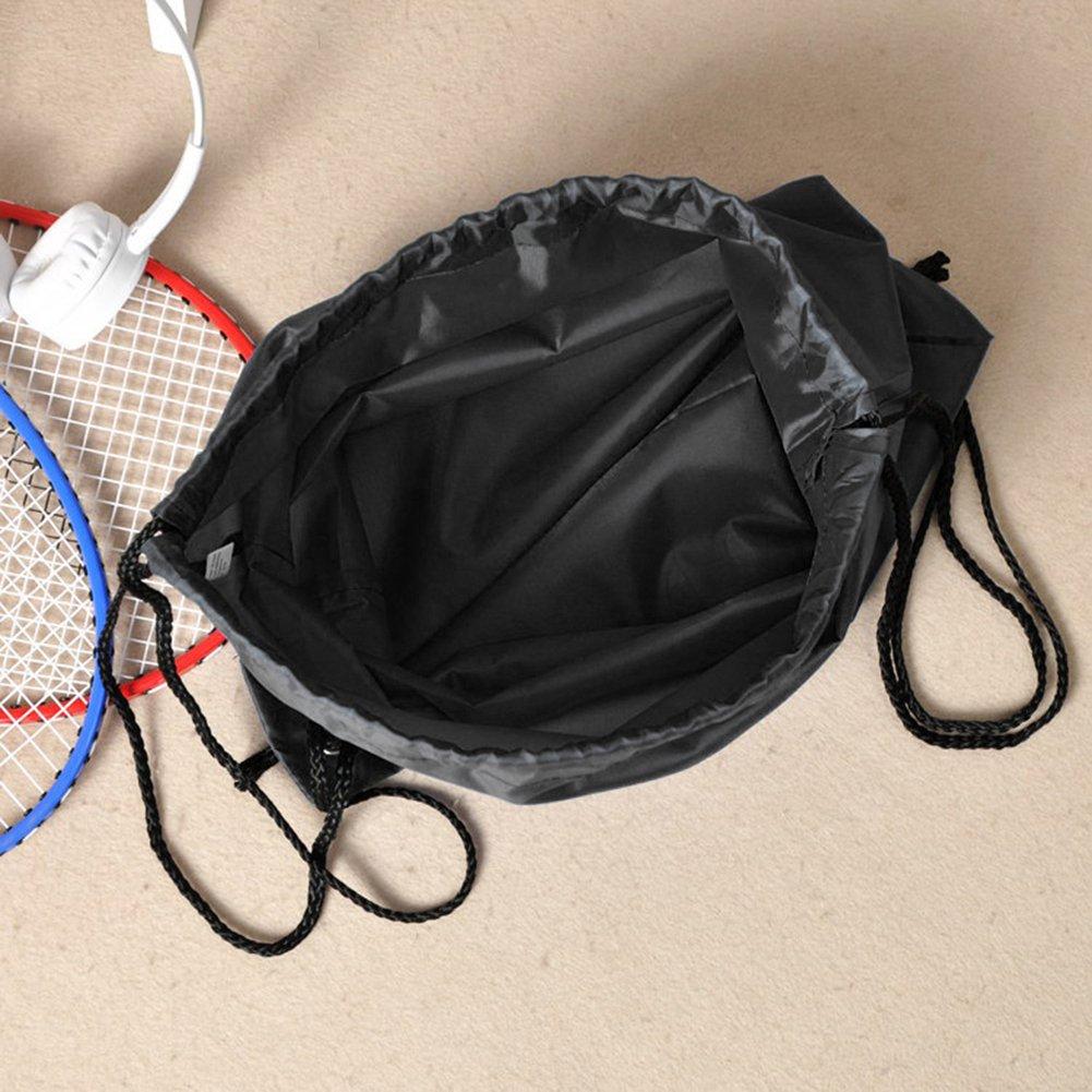 BINGONE Drawstring Bag Folding Backpack Storage Black by BINGONE (Image #4)