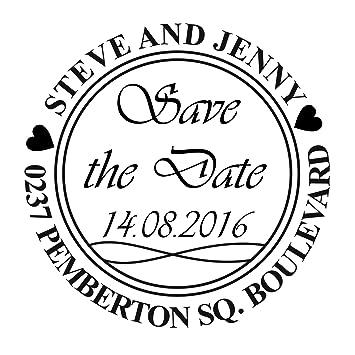 Custom Save The Date Hochzeit Selbstfärbende Einladung Stempel/Personalisieren  Save The Date Hochzeit Stempel Hochzeit