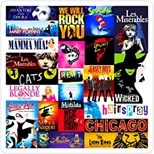 Jess-Sha Store 3 PCs Stickers Musicals Sticker for Laptop, Phone, Cars, Vinyl Funny Stickers Decal for Laptops, Guitar, Fridge