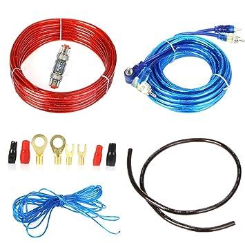 takestop Kit completo de cables de audio RCA para instalación de un amplificador en el coche: Amazon.es: Electrónica