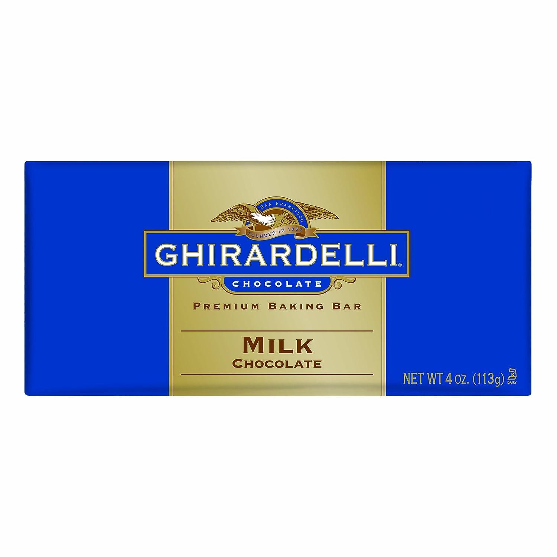 Amazon.com : Ghirardelli Chocolate Baking Bar, Milk Chocolate, 4 ...