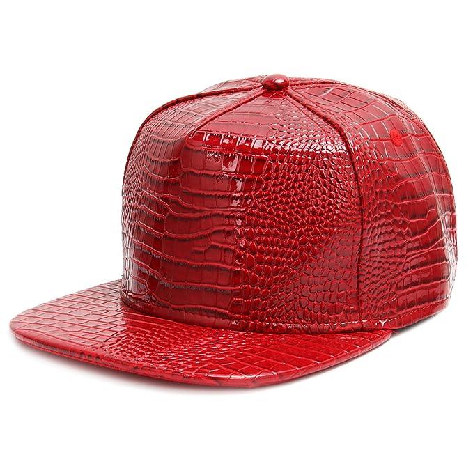 Cusfull Gorra de béisbol Hip Hop estilo orra de béisbol plana del borde con la muestra religiosa del metal del elemento