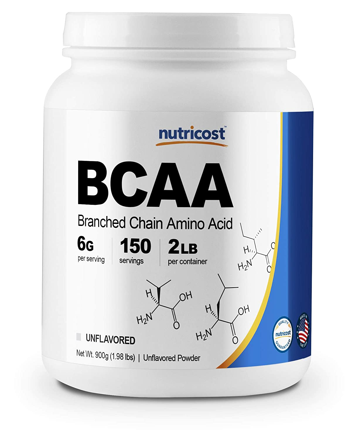 Nutricost BCAA Powder 2 1 1-150 Servings Unflavored