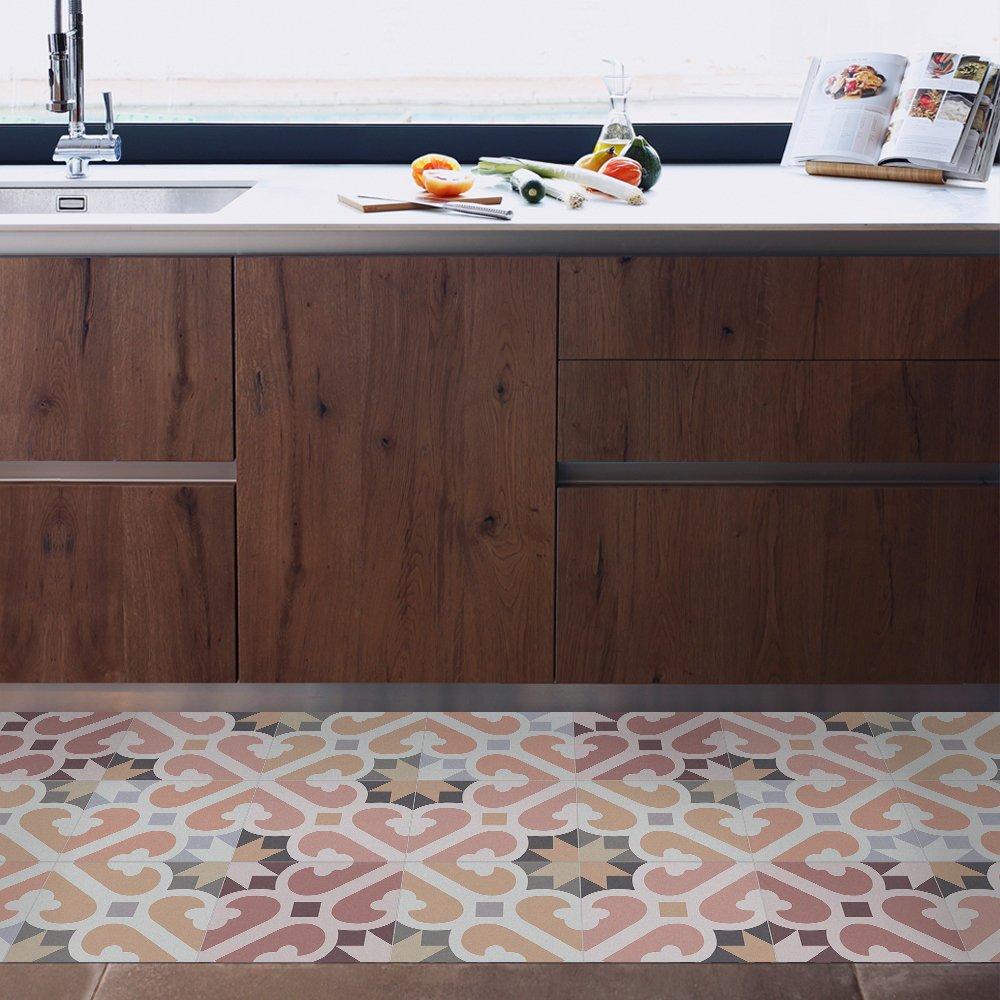 MAMUT Big Big Big Design Küchenteppich Rutschfest und feuerfest. Mimosa Warm 60x140cm. Leicht zu reinigen mit Einem Mop. Made in Barcelona Bodenfliesen ohne Arbeit zu Machen. B0753PGTRS Bodenwischer & Mopps 408aa8