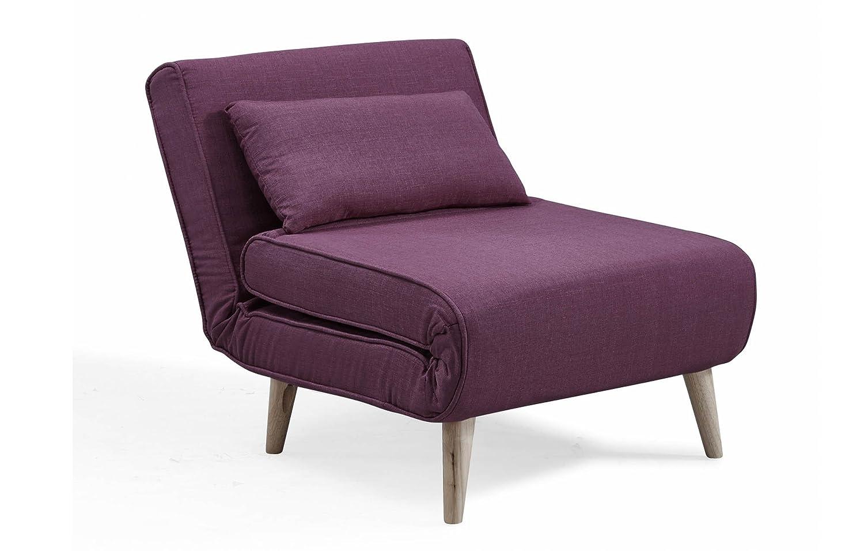 Mobilier Mobilier Mobilier Deco Sessel skandinavischen Convertible aus Stoff violett 69fe84