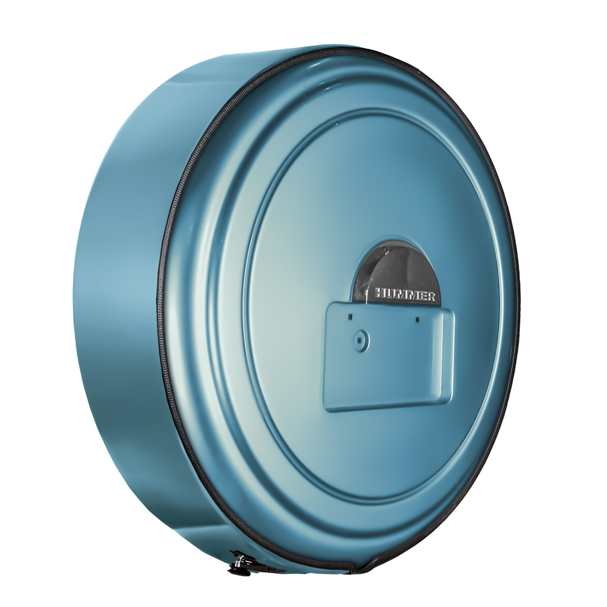 Hummer H2 (05-10) - Color Matched MasterSeries Hard Tire Cover - (Fully Painted Plastic Face & Stainless Steel Ring) - No Logo - Glacier Blue Metallic