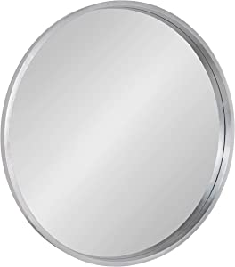 Kate and Laurel Travis Round Wood Wall Mirror, 31.5