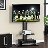 Fitueyes テレビスタンド 32~50インチ対応 壁寄せテレビスタンド 高さ調節可能 ラック回転可能ブラック TT206501GB