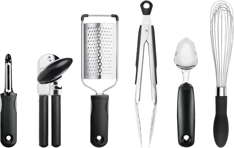 OXO 76781 Good Grips 6-Piece Kitchen Essentials Set, Black