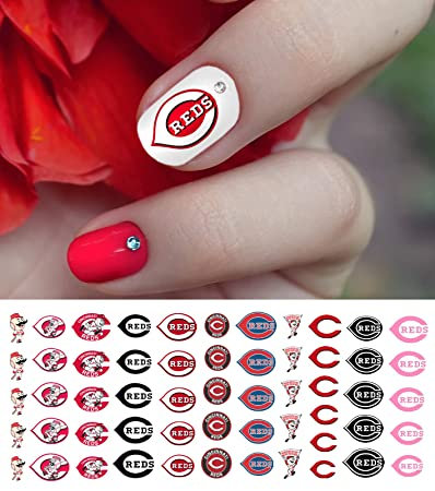 Amazon.com: Cincinnati Reds Baseball Waterslide Nail Art Decals ...