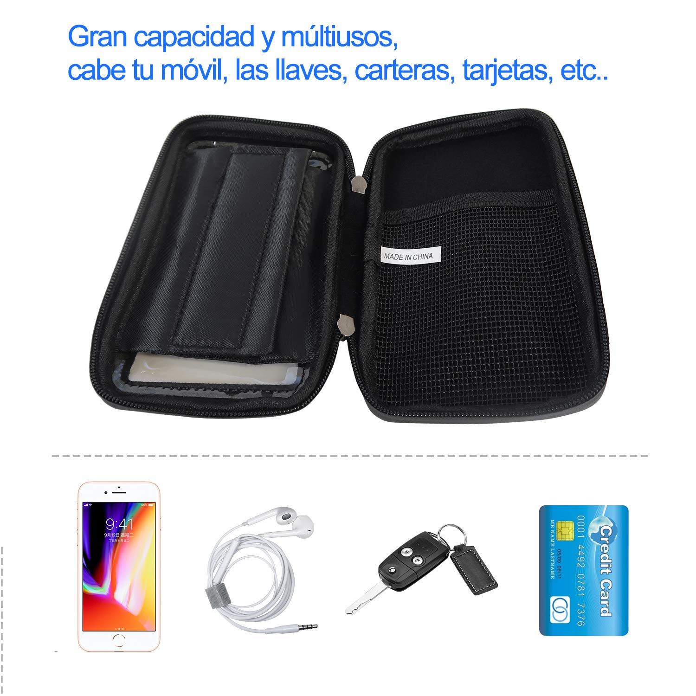 Bolsa Impermeable con Pantalla para Manillar Zamelux Bolsa para el Manillar de Bicicleta Soporte m/óvil para Bicicleta
