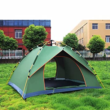 Waterproof Fireproof Tent Tent adventure tent outdoor fully automatic tent for 3-  sc 1 st  Amazon.com & Amazon.com : Waterproof Fireproof Tent Tent adventure tent ...