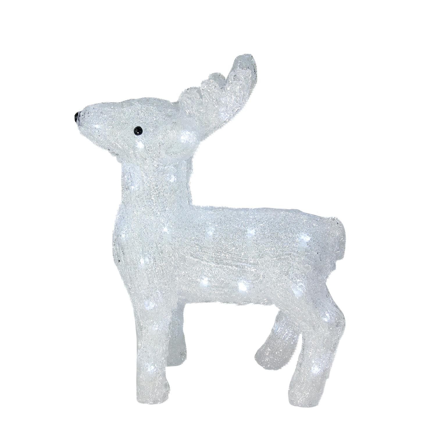 Northlight 15'' Lighted Commercial Grade Acrylic Baby Reindeer Christmas Display Decoration
