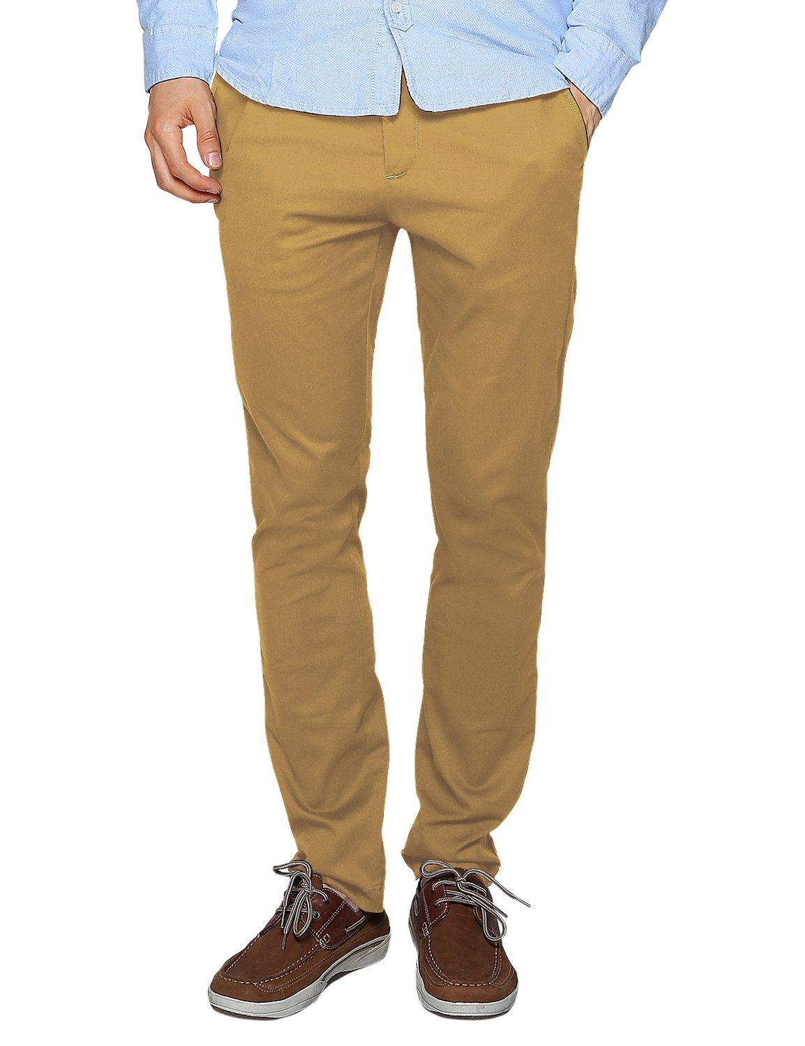 Match Men's Slim Tapered Stretchy Casual Pant (32, 8114 Khaki)