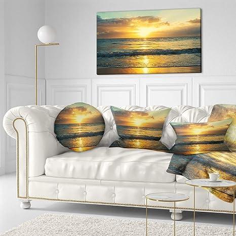 Amazon Com Design Art Pt10867 40 20 Exotic Water And Sky Sunset Panorama Modern Seashore Canvas Art 40x20 40x20 Wall Art