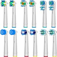 AGPtEK® Oral B Compatible Replacement Electric Tooth Brush Head – Pack of 12 Assorted Heads, Special with 6 PCS Different Design Shape Model