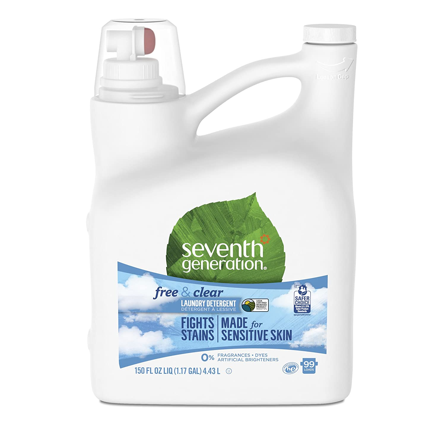 Seventh Generation Laundry Detergent, Free & Clear, 150 oz by Seventh Generation B003X00EM8