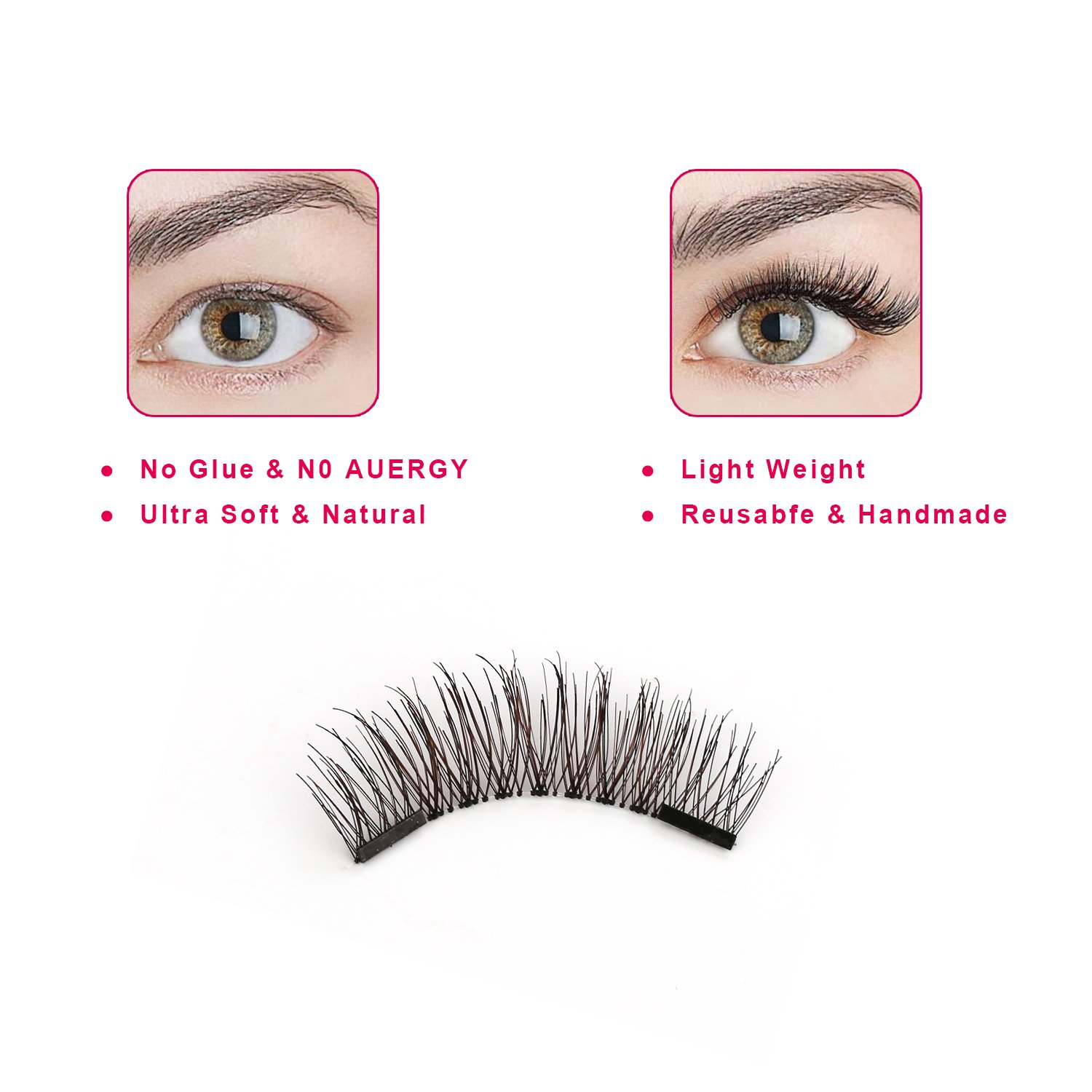 3d Dual Magnetic Eyelashes No Glue Ce Premium Quality Perfect