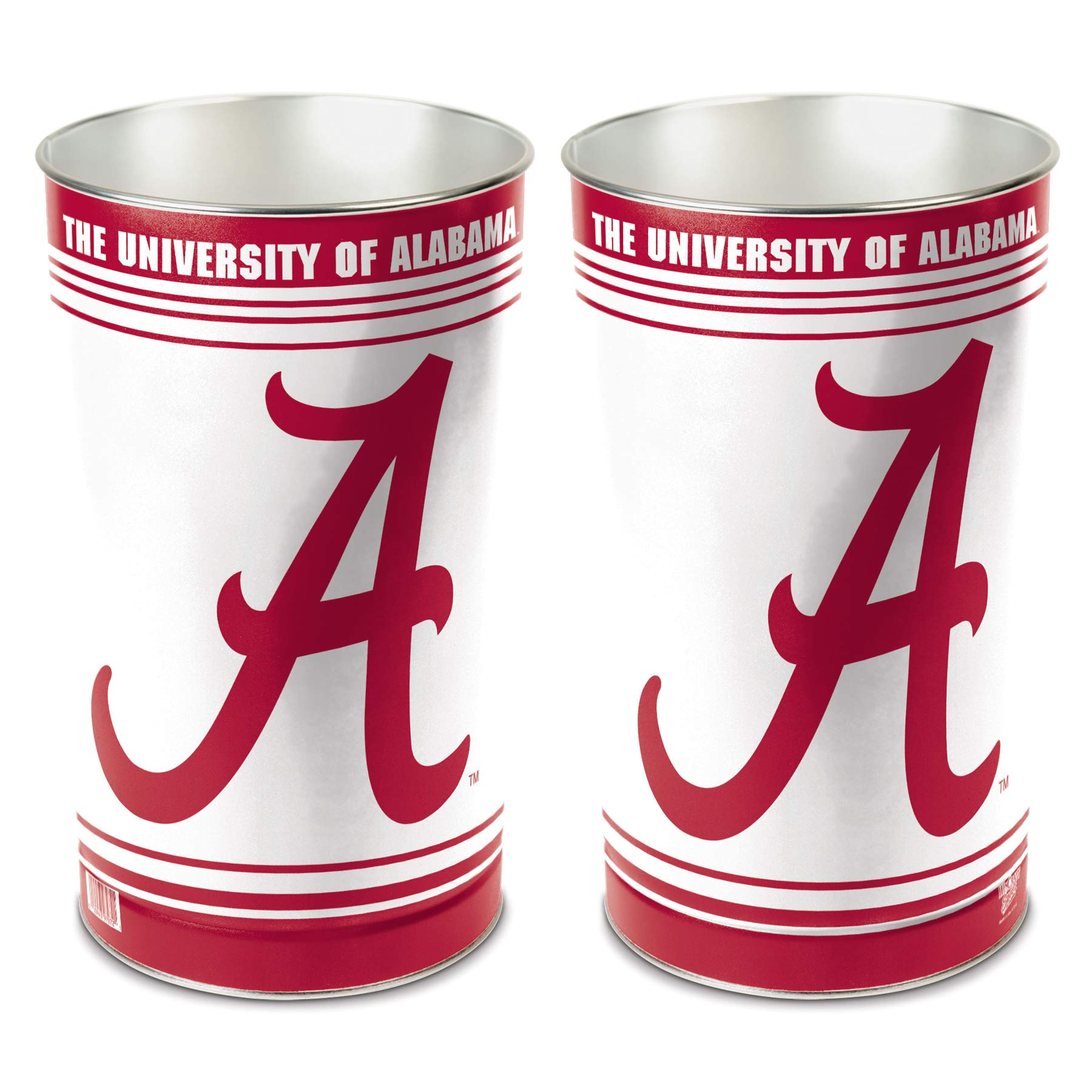 WinCraft NCAA 9797210 University of Alabama Tapered Wastebasket, 15'' H