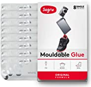 Sugru Moldable Glue - Original Formula - All-Purpose Adhesive, Advanced Silicone Technology - Holds up to 2 kg - White 8-Pack