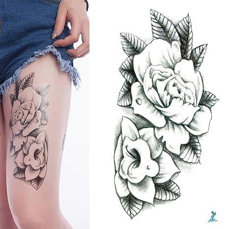 10 Hojas Yeeech Tatuajes Temporales Pegatinas Serie Flores Diseños