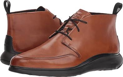 fcf4c9087da Cole Haan Men's 3.Zerogrand Chukka British Tan Leather/Dark Roast  Chassis/Black