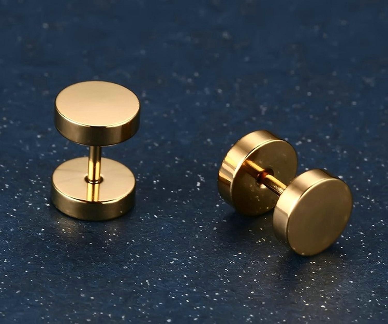 Beydodo Stainless Steel Earrings Ear Pierce Earring Studs Nickel Free 1 Pair Stud Earrings 9MM