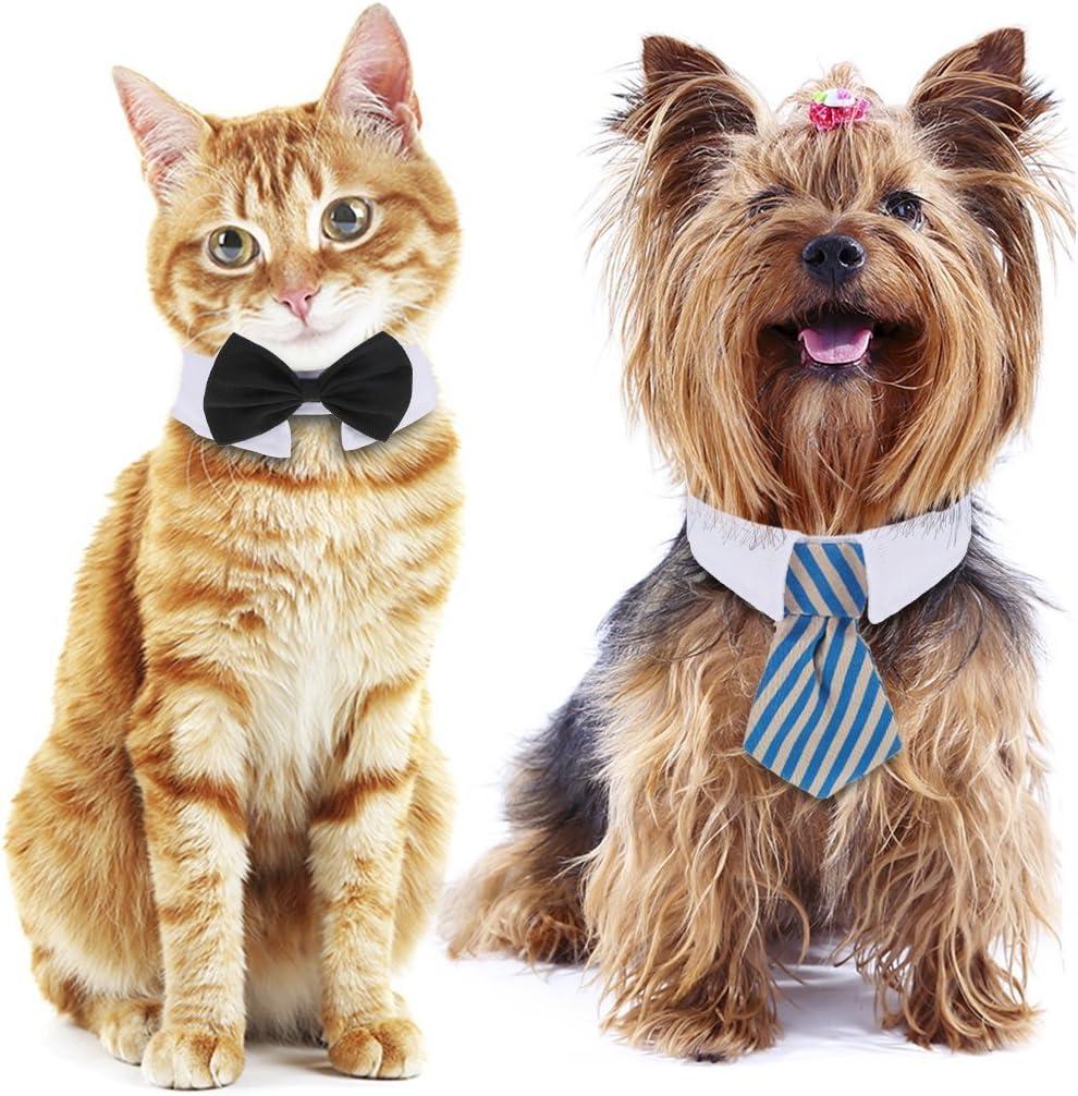 Shappy 3 Piezas Corbatas y Pajarita Ajustables de Mascotas Perros ...