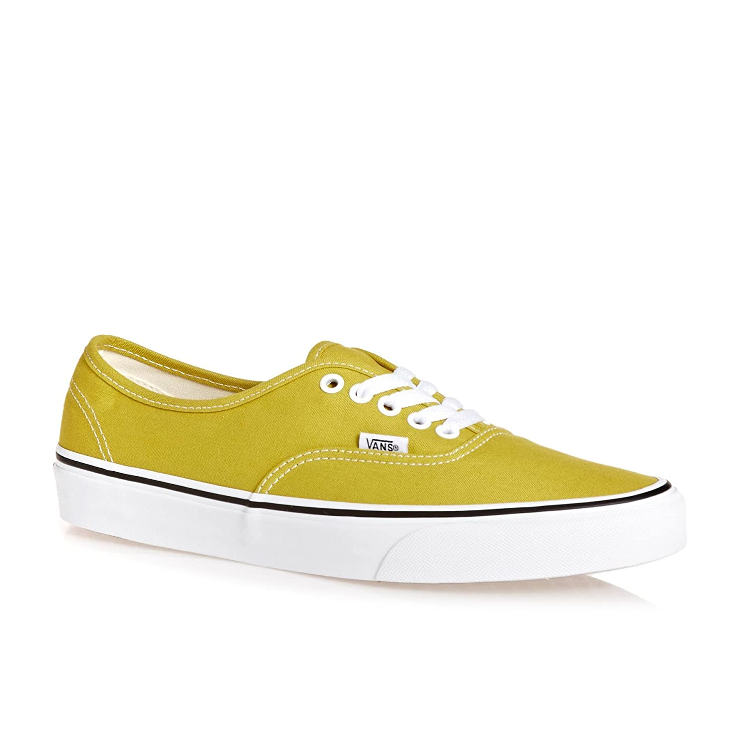 Vans VEE3NVY Unisex Authentic Shoes B07F75DR9K 5.5 B(M) US Women / 4 D(M) US|Cress Green True White
