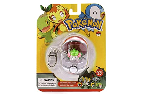 Pokemon Llavero Shaymin Land Forme con Pokeball: Amazon.es ...