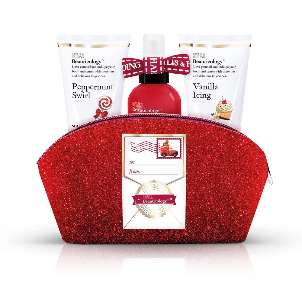 Baylis & Harding Beauticology Special Delivery Clutch Bag Gift Set, Red BCRD18BAG