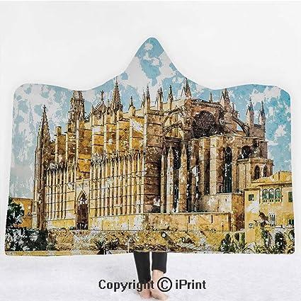 Amazon.com: Gothic Decor 3D Print Soft Hooded Blanket Boys ...