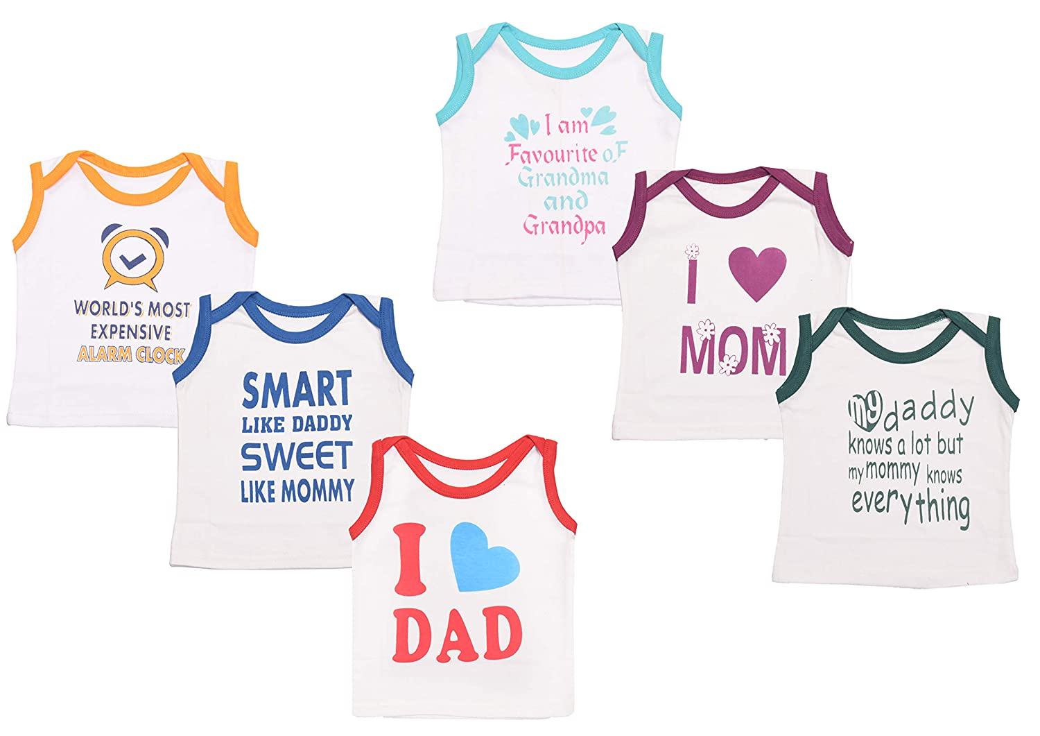 Baby Fly Baby Boy S And Girl S Cotton Sleeveless T Shirt 0 6 Months