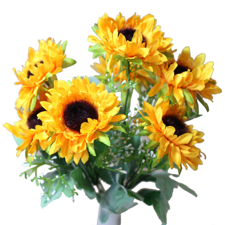 Amazon 7 Stem Sunflowers Artificial Flower Home Kitchen