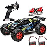 Demaxis 4wd Off Road Remote Control Car Vehicles, RTR Electric 4x4 High Speed 30 mph Rc Car Monster Truck 1/12 Scale Outdoor Rc Desert Buggy for Adults (Two Batteries)