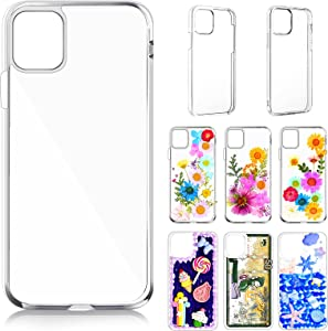 6 Pieces Epoxy Resin DIY Mobile Phone Cases Sublimation Blanks Phone Case Covers 3 Piece Hard Shells 3 Pieces Soft Shells Compatible with iPhone 11