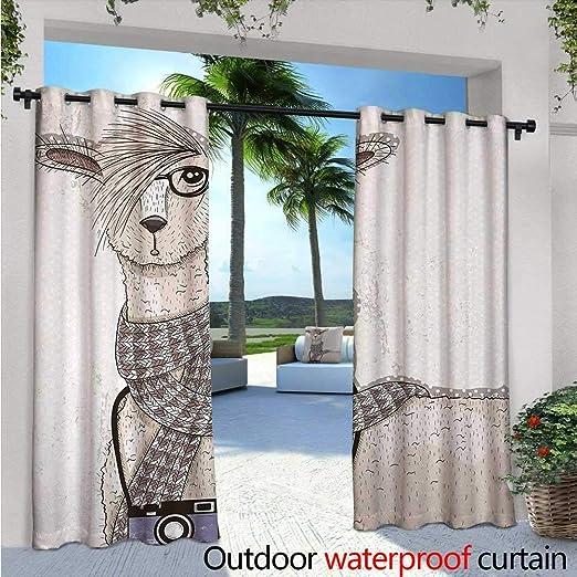 Cortina de privacidad para habitación de adolescentes, para pérgola con líneas geométricas y cubos cuadrados, impresión artística, aislante térmico, repelente al agua, para balcón, color blanco y negro: Amazon.es: Jardín