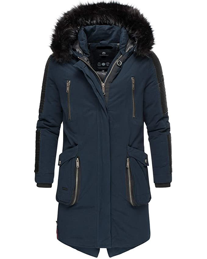 Damen Winter Jacke Mantel Outdoor Teddyfell Warm Wetterfest