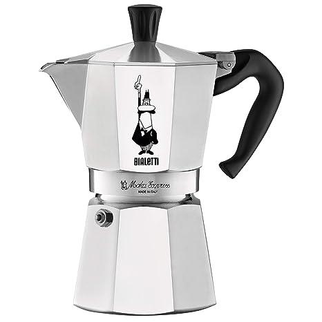 c4c08914624 Amazon.com: Bialetti 06800 Moka stove top coffee maker, 6 -Cup, Aluminum:  Stovetop Espresso Pots: Kitchen & Dining