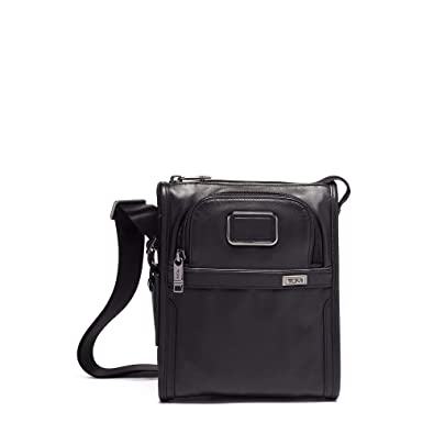 370fd4ae59da TUMI - Alpha 3 Small Pocket Crossbody Bag - Leather Satchel for Men and  Women -