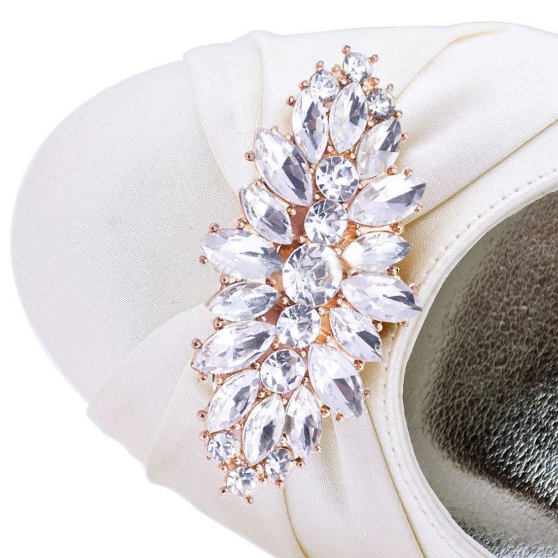 ZHRUI Classic   Classic ZHRUI AFemmede Toe Wedge Talons Hauts Ivoire Satin De Mariée Pompes De Mariée UK 3.5 (coloré : -, Taille : -)B07JZBB9BQParent 17e369