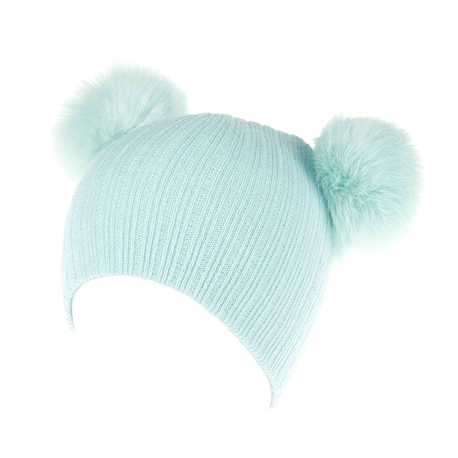 Unisex Solid Color Warm Cap - Boys Girls Toddler Autumn Winter Ball Pompom Bobble Hats 0611BDXW114