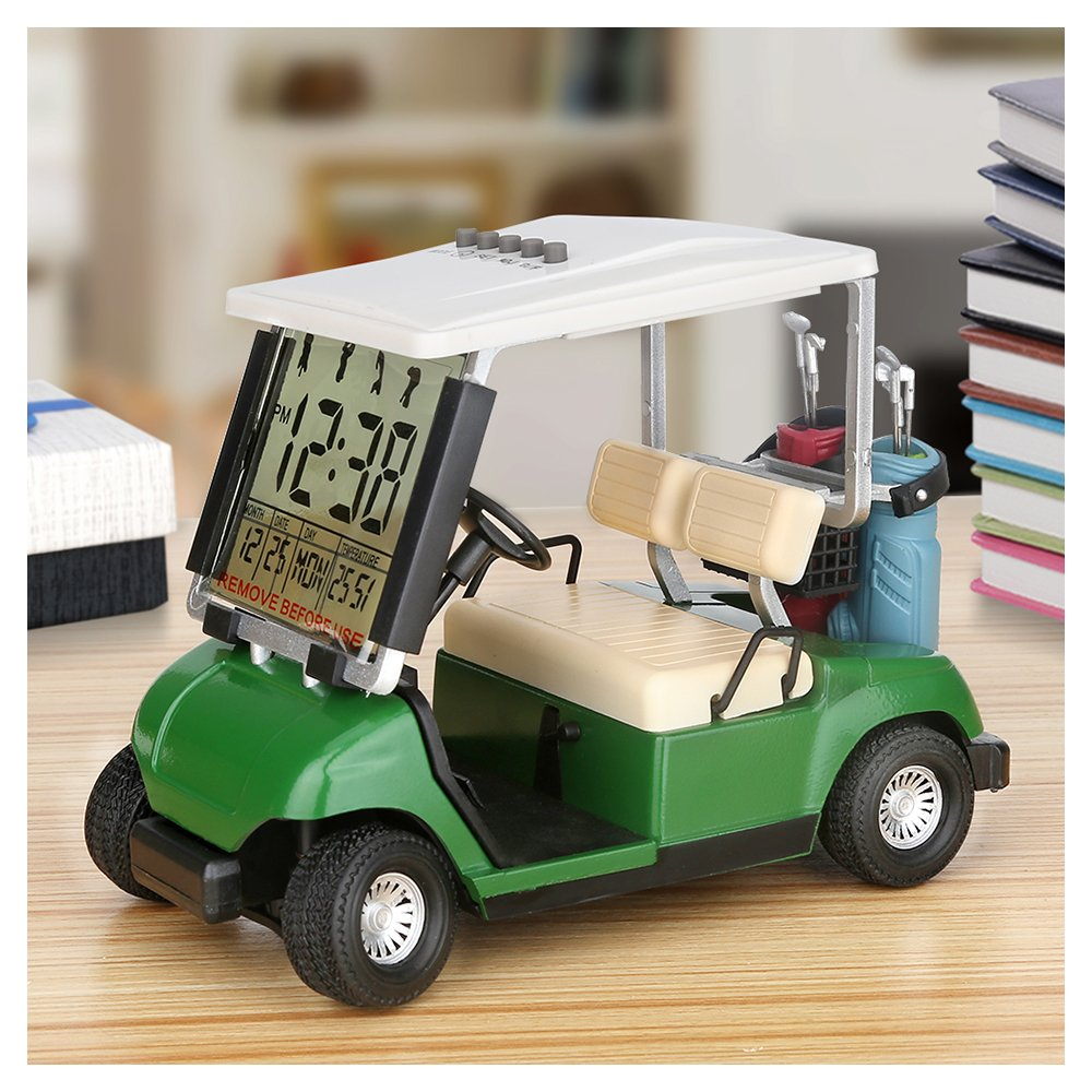LCD Display Mini Golf Cart Clock for Golf Fans