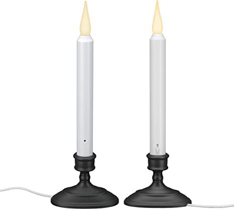 6 Electric Window Candle Light Glass Bulb Dusk To Dawn Sensor Lights Home Decor