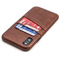 """Dockem Wallet Case for iPhone X/XS: Built-in Metal Plate for Magnetic Mounting & 2 Credit Card Holders, 5.8"""" Exec M2…"""