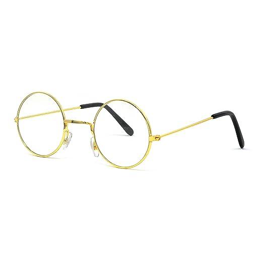 d437dfaba75 Amazon.com  Big Mo s Toys Gold Rimmed Round Costume Glasses - 1 Pair ...