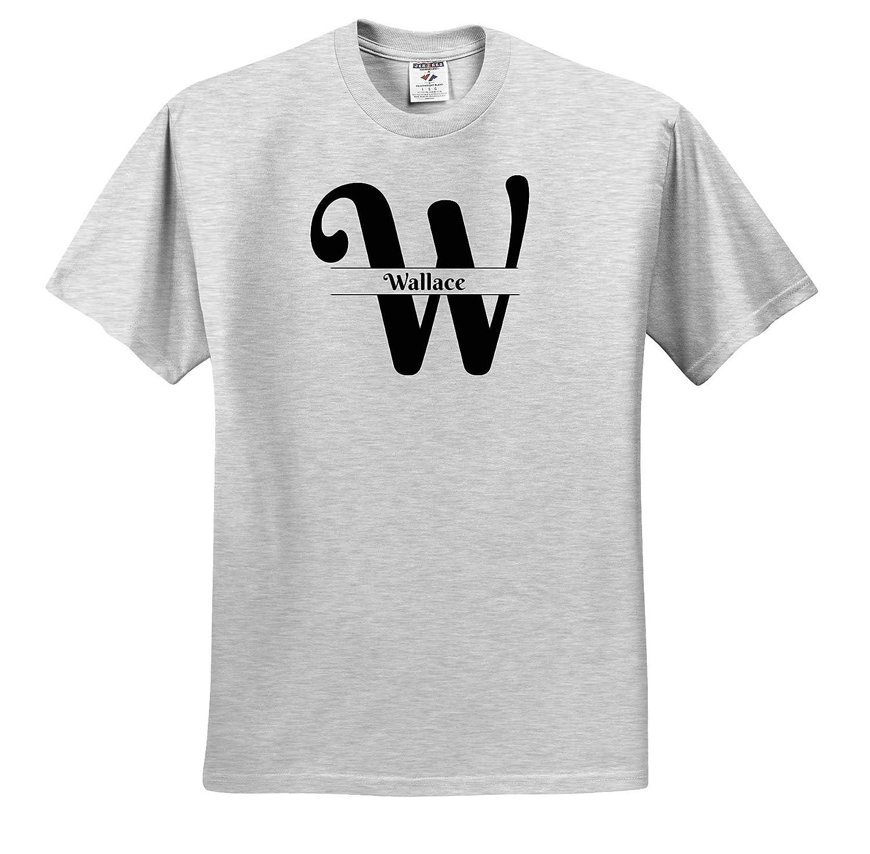 3dRose BrooklynMeme Monograms Wallace ts/_310054 Bold Script Monogram W Adult T-Shirt XL