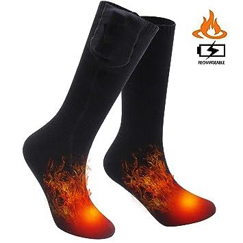b318d8238d Lovne Electric Heated Socks, Battery Heated Socks, Warm Winter Thermal Socks  Indoor Outdoor Sport