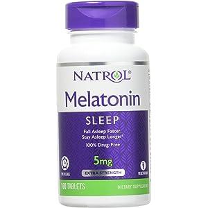 Melatonin 5 mg Time Release by Natrol 100 Tablets